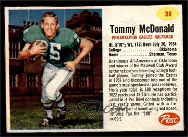 uk availability bd804 0a7ba 1962 Post - [Base] #38 - Tommy McDonald [EX]
