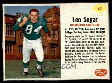 1962 Post - [Base] #42 - Leo Sugar [EX]