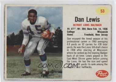 1962 Post - [Base] #53 - Dan Lewis [Good to VG‑EX]