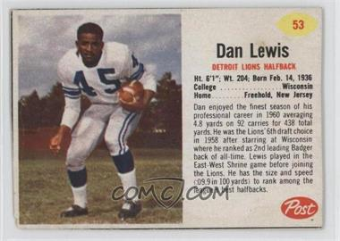 1962 Post - [Base] #53 - Dan Lewis