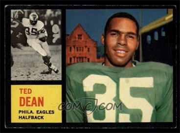 1962 Topps - [Base] #117 - Ted Dean [EX]