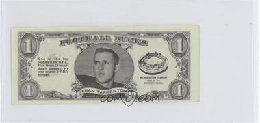 1962 Topps Football Bucks - [Base] #33 - Fran Tarkenton