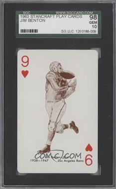 1963 Stancraft Playing Cards - [Base] - Green Back #9H - Jim Benton [SGC98]