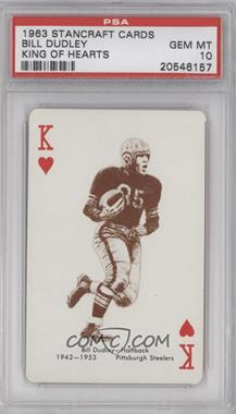 1963 Stancraft Playing Cards - [Base] - Red Back #KH - Bill Dudley [PSA10]