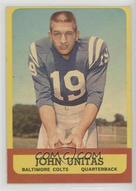 1963 Topps - [Base] #1 - Johnny Unitas