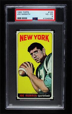 1965 Topps - [Base] #122 - Joe Namath [PSA 4 VG‑EX]