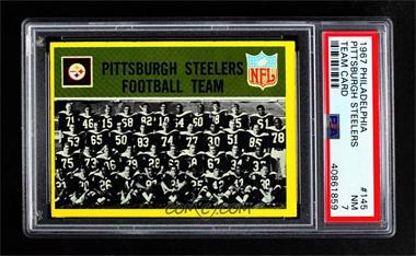 0e35d96b1ab 1967 Philadelphia -  Base   145 - Pittsburgh Steelers Team  PSA 7 NM ...