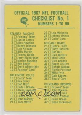 1967 Philadelphia - [Base] #197 - Checklist No. 1