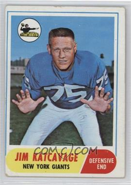 1968 Topps - [Base] #187 - Jim Katcavage [Poor to Fair]