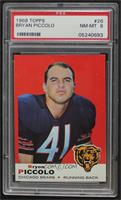 Brian Piccolo (Name Spelled Bryon on Front; Bryan on Back) [PSA 8 NM&…