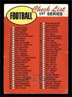Check List - 1st Series [GOOD]
