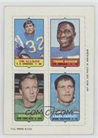 Jim Allison, Frank Buncom, George Sauer, Frank Emanuel [Poor]
