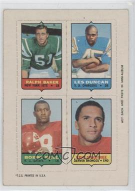 1969 Topps - Mini-Cards (4-in-1) #BDBC - Ralph Baker, Eric Crabtree, Leslie Duncan, Bobby Bell [Good to VG‑EX]