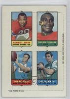 Hewritt Dixon, Goldie Sellers, Howard Twilley, Joe Namath [Poor to Fa…