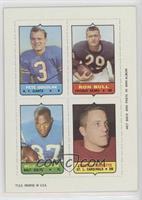 Pete Gogolak, Ronnie Bull, Willie Richardson, Chuck Latourette