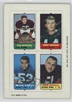 Gene Hickerson, Donny Anderson, Mike Lucci, Dick Butkus [Poor to Fair]