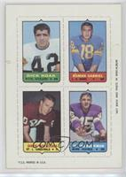 Dick Hoak, Roman Gabriel, Dave Williams, Ed Sharockman [Good to VG&#8…