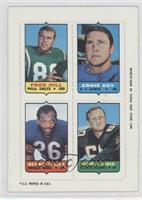 Fred Hill, Ernie Koy, Bennie McRae, Tommy Nobis