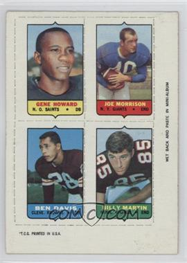 1969 Topps - Mini-Cards (4-in-1) #HMDM - Gene Howard, Joe Morrison, Ben Davis, Billy Martin