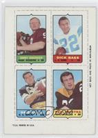 Sonny Jurgensen, Dick Bass, Dave Parks, Paul Martha