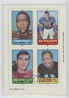 Leroy Kelly, Ed Meador, Ray Ogden, Bart Starr [Poor to Fair]