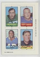 Tom Woodeshick, Greg Larson, Don Perkins, Billy Kilmer