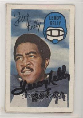 1970 Kellogg's 3-D Super Stars - [Base] - Blank Back Proof #LEKE - Leroy Kelly [SGCAuthenticCOASticker]