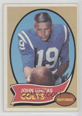 1970 Topps - [Base] #180 - Johnny Unitas