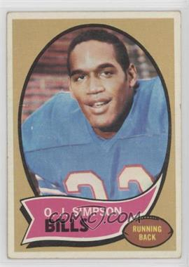 1970 Topps - [Base] #90 - O.J. Simpson [Good to VG‑EX]