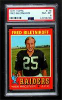 Fred Biletnikoff [PSA 8 NM‑MT]