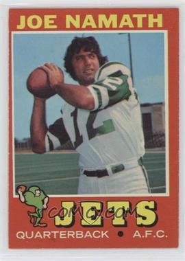 1971 Topps - [Base] #250 - Joe Namath