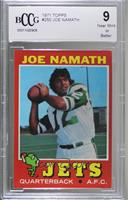 Joe Namath [BCCG Near Mint]