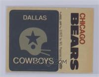 Dallas Cowboys Logo, Chicago Bears [Excellent‑Mint]