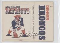 New England Patriots, Denver Broncos