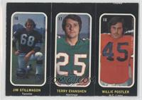 Terry Evanshen, Jim Stillwagon, Willie Postler