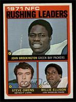 Steve Owens, Willie Ellison, John Brockington [NM]