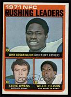 Steve Owens, Willie Ellison, John Brockington [EX]