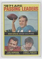 Len Dawson, Virgil Carter, Bob Griese [Poor to Fair]