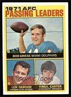 Len Dawson, Virgil Carter, Bob Griese [NM]