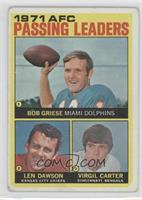Len Dawson, Virgil Carter, Bob Griese [Good to VG‑EX]