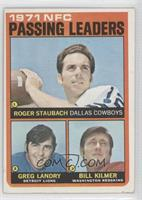 Roger Staubach, Greg Landry, Billy Kilmer [Good to VG‑EX]