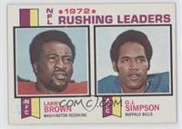 1972 NFL Rushing Leaders (Larry Brown, O.J. Simpson)