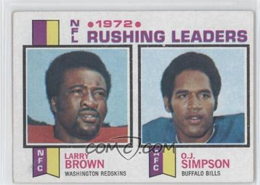 1973 Topps - [Base] #1 - 1972 NFL Rushing Leaders (Larry Brown, O.J. Simpson)