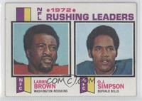 Larry Brown, O.J. Simpson [Good to VG‑EX]