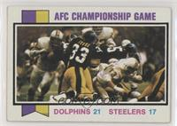 AFC Championship Game (Dolphins vs. Steelers) [Good to VG‑EX]