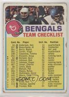Cincinnati Bengals (One Star on Front) [Poor]