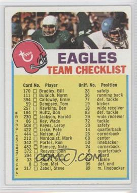 1973 Topps Team Checklists - [Base] #PHI - Philadelphia Eagles
