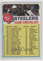 Pittsburgh Steelers (One Star on Front) [Good to VG‑EX]