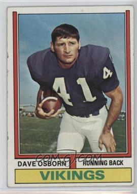 1974 Topps - [Base] #293 - Dave Osborn [Good to VG‑EX]