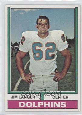 1974 Topps - [Base] #397 - Jim Langer [GoodtoVG‑EX]